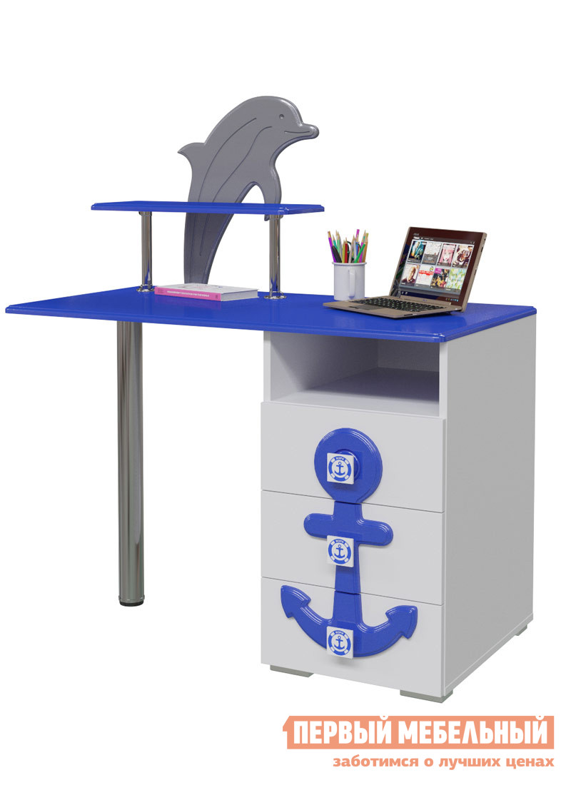 Компьютерный стол детский Бит и Байт П-2 Стол письменный «Парус»