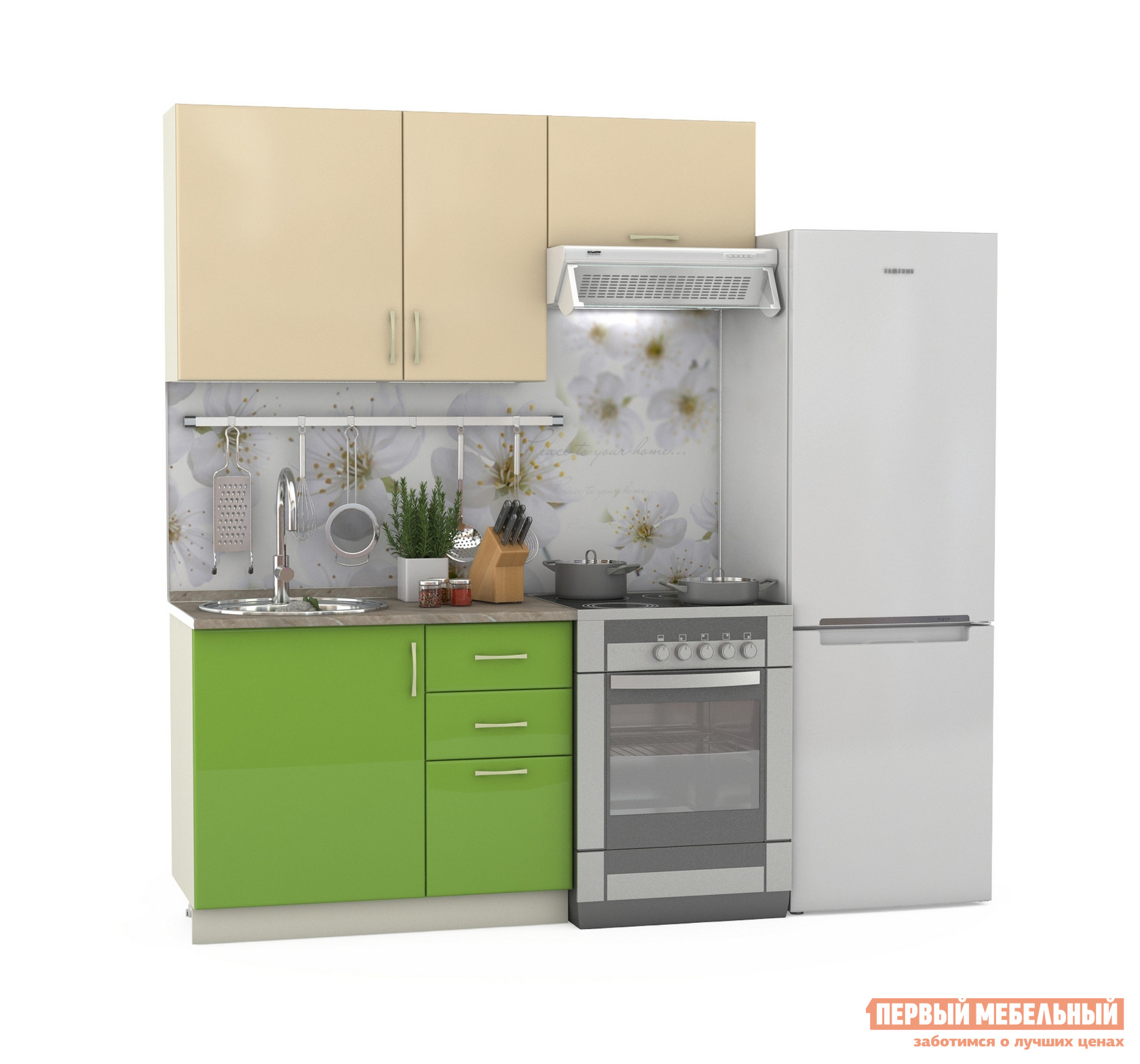 Кухонный гарнитур Бит и Байт Сандра-2 160 см кухонный гарнитур трия оливия 240 см