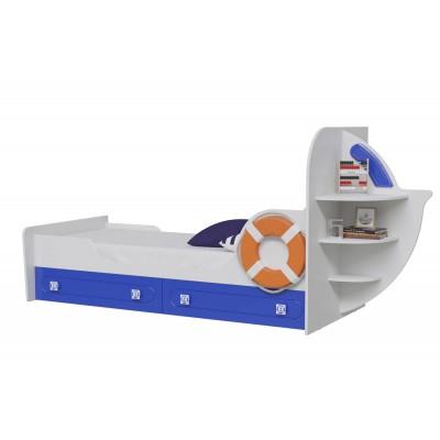 Детская кровать МэриМебель Яхта-1 Белый / Синий