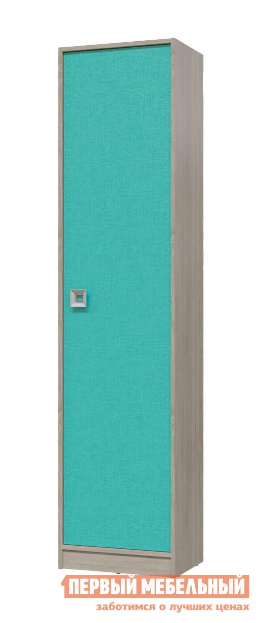 Шкаф детский Гранд Кволити 6-9412 Дуб Сонома / АкваШкафы детские<br>Габаритные размеры ВхШхГ 2105x500x355 мм. Узкий шкаф пенал с полками — удобный модуль в детскую комнату для хранения одежды, вещей, постельных принадлежностей и игрушек.  Внутри располагаются пять отделений.  Дверь можно навесить на любую сторону. Шкаф выполняется из ЛДСП.  Края обработаны кромкой ПВХ.<br><br>Цвет: Дуб Сонома / Аква<br>Цвет: Зеленый<br>Цвет: Светлое дерево<br>Высота мм: 2105<br>Ширина мм: 500<br>Глубина мм: 355<br>Кол-во упаковок: 1<br>Форма поставки: В разобранном виде<br>Срок гарантии: 18 месяцев<br>Тип: Прямые<br>Материал: Деревянные, из ЛДСП