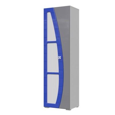 Шкаф детский МэриМебель П-4 Пенал «Парус» Белый / Синий
