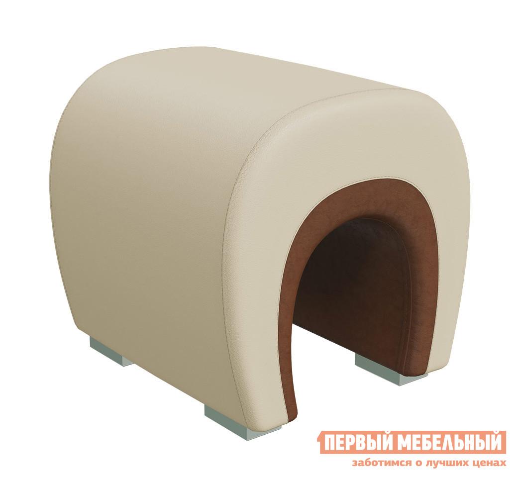 Пуфик Гранд Кволити 6-5106 Иск.кожа Бежевая / Коричневая