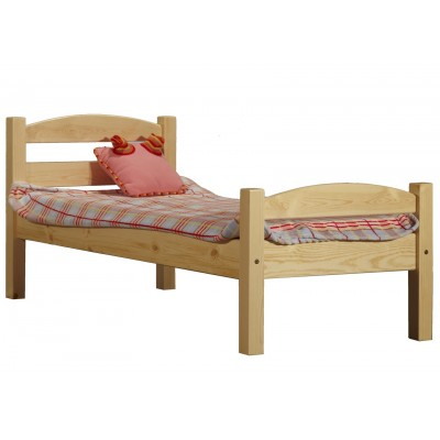 Детская кровать Timberica Кровать Классик детская (спинка дуга) Бесцветный лак, Без матраса