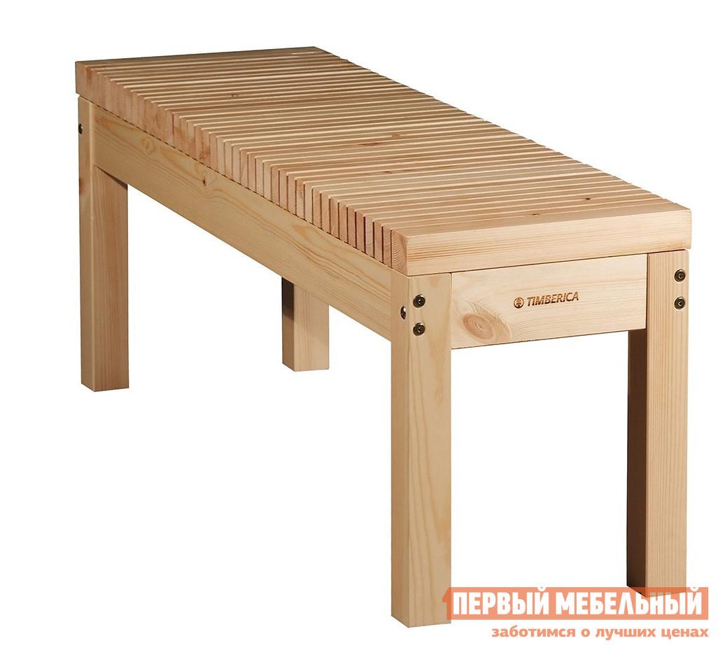 Скамья деревянная без спинки Timberica Скамья Лахти  недорого