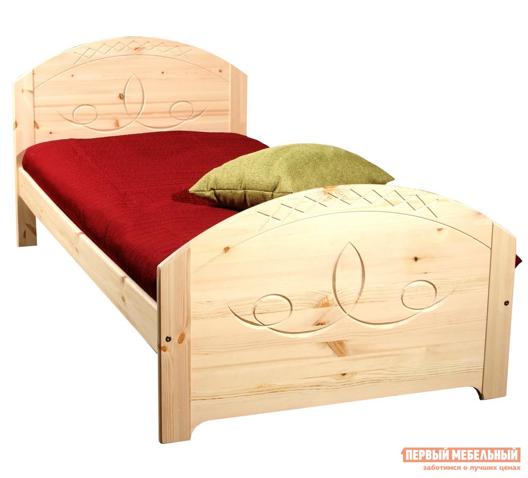 Кровать Timberica Элина Спальное место 1800 X 2000 мм,Бесцветный лак,Без матраса от Купистол