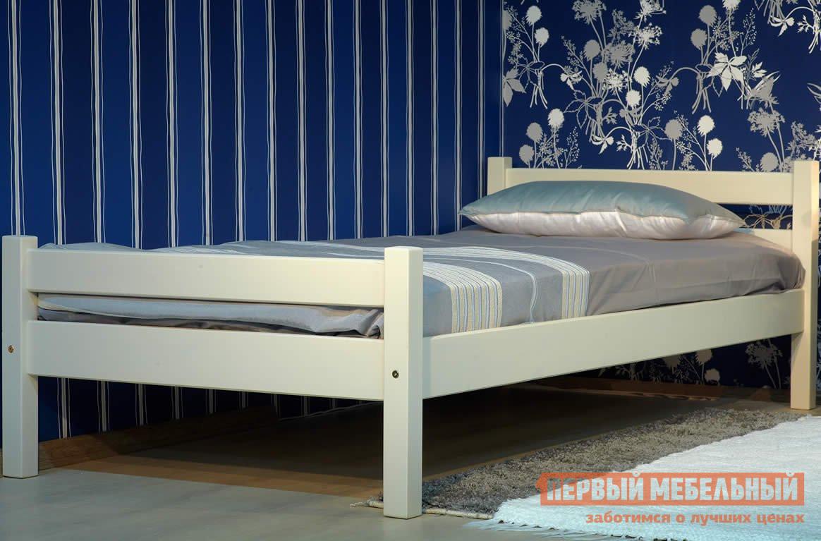 Двуспальная кровать  Кровать Классик Эмаль слоновая кость, 1400 Х 2000 мм