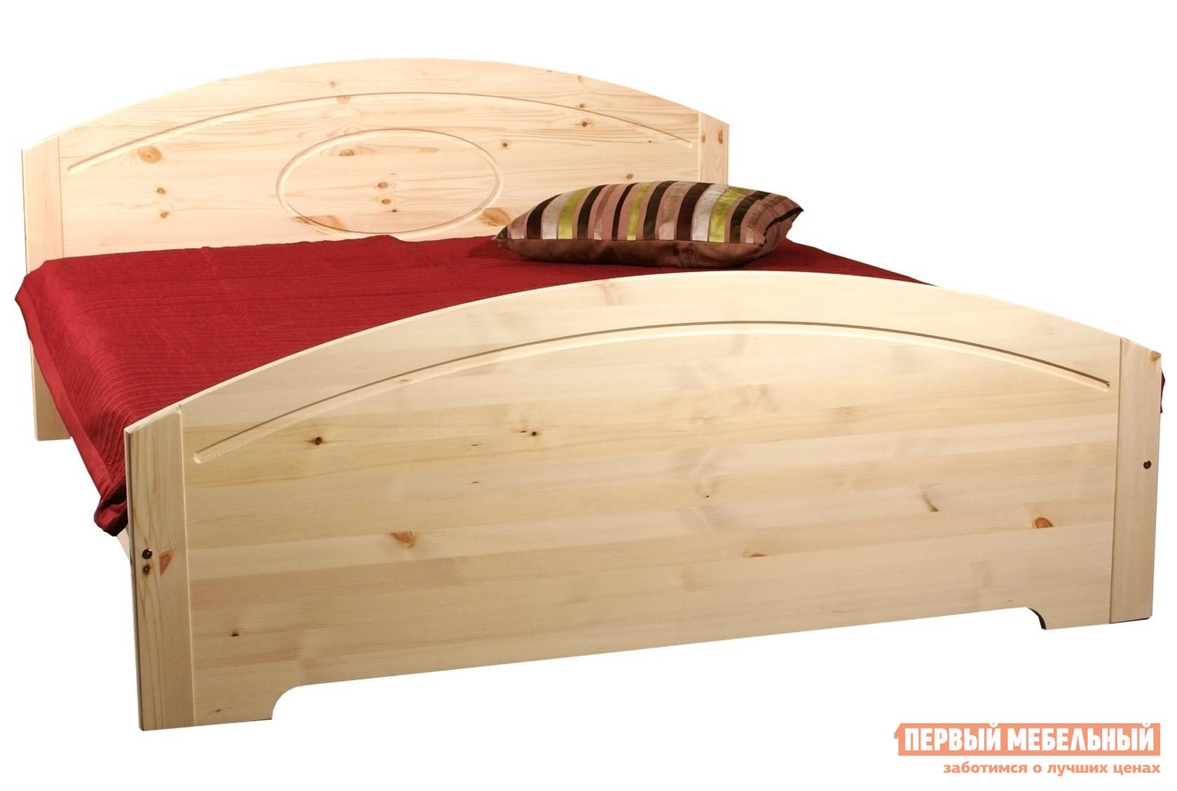 Кровать Timberica Инга Спальное место 1200 Х 2000 мм,Бесцветный лак,Без матраса от Купистол