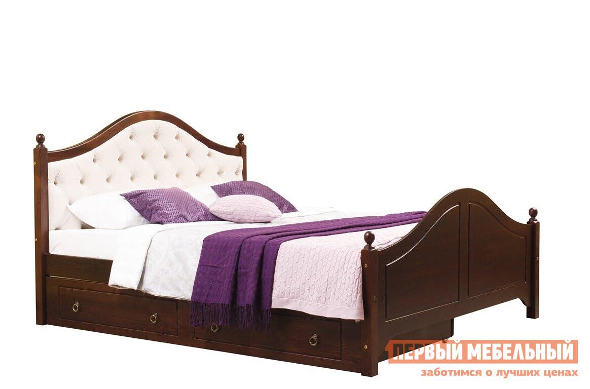 Двуспальная кровать с мягким изголовьем Timberica Кая (К2) мягкая с ящиками комплект мебели для спальни timberica кая к2