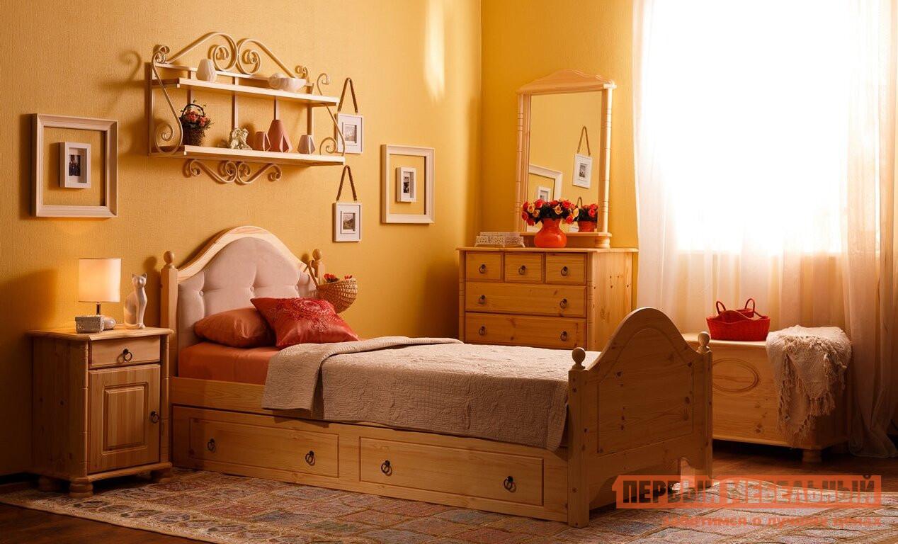 двуспальная кровать с мягким изголовьем кая 2 2 м с ящиками купить в