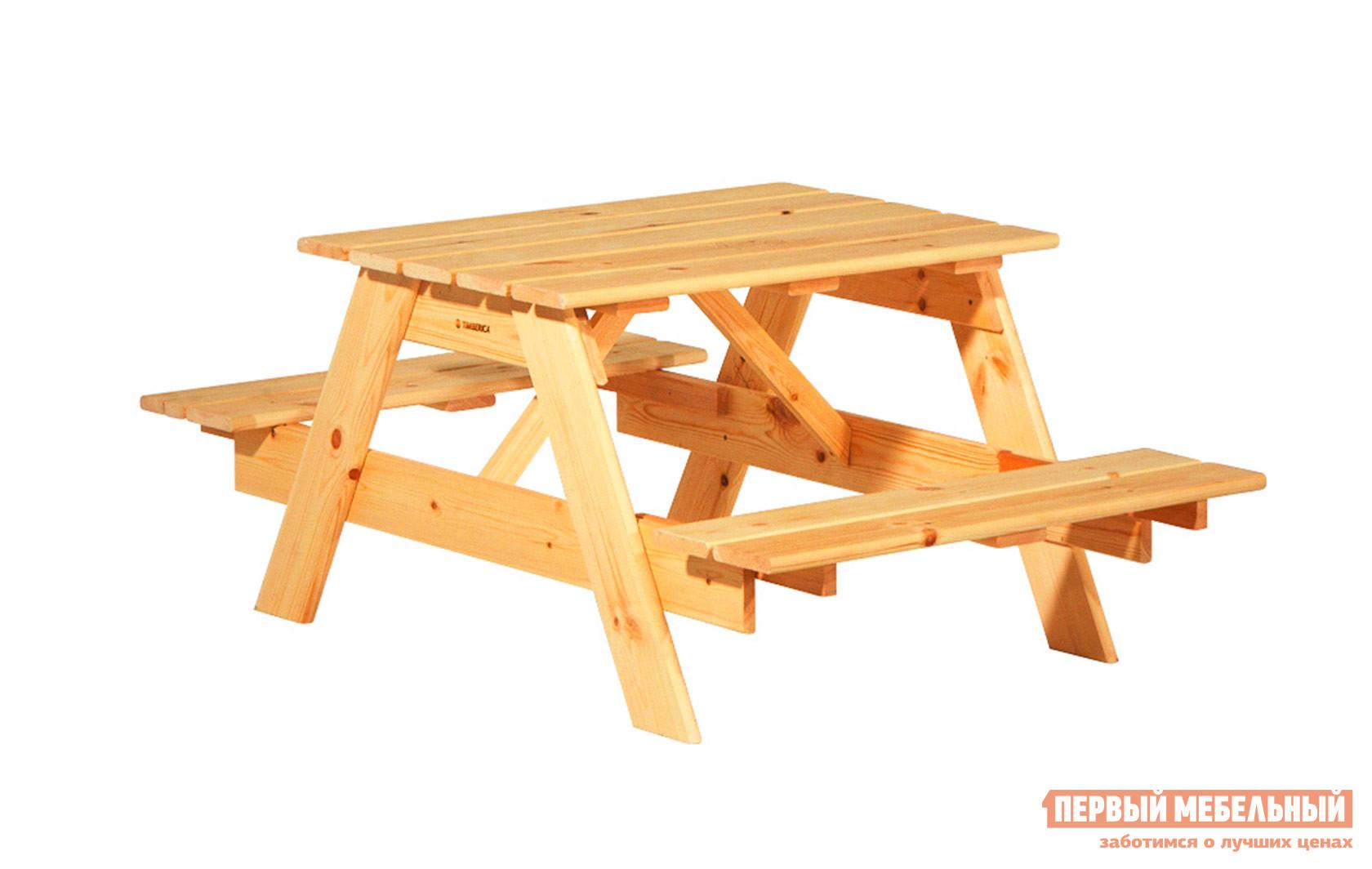 Комплект садовой мебели Timberica Пикник детский комплект детской мебели timberica классик эмаль белая к1