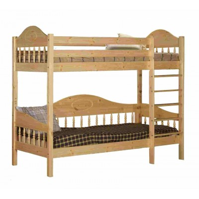 Кровать Timberica Кровать 2-ярусная Фрея (F3) Спальное место 700 Х 2000 мм, Бесцветный лак, Без матрасов