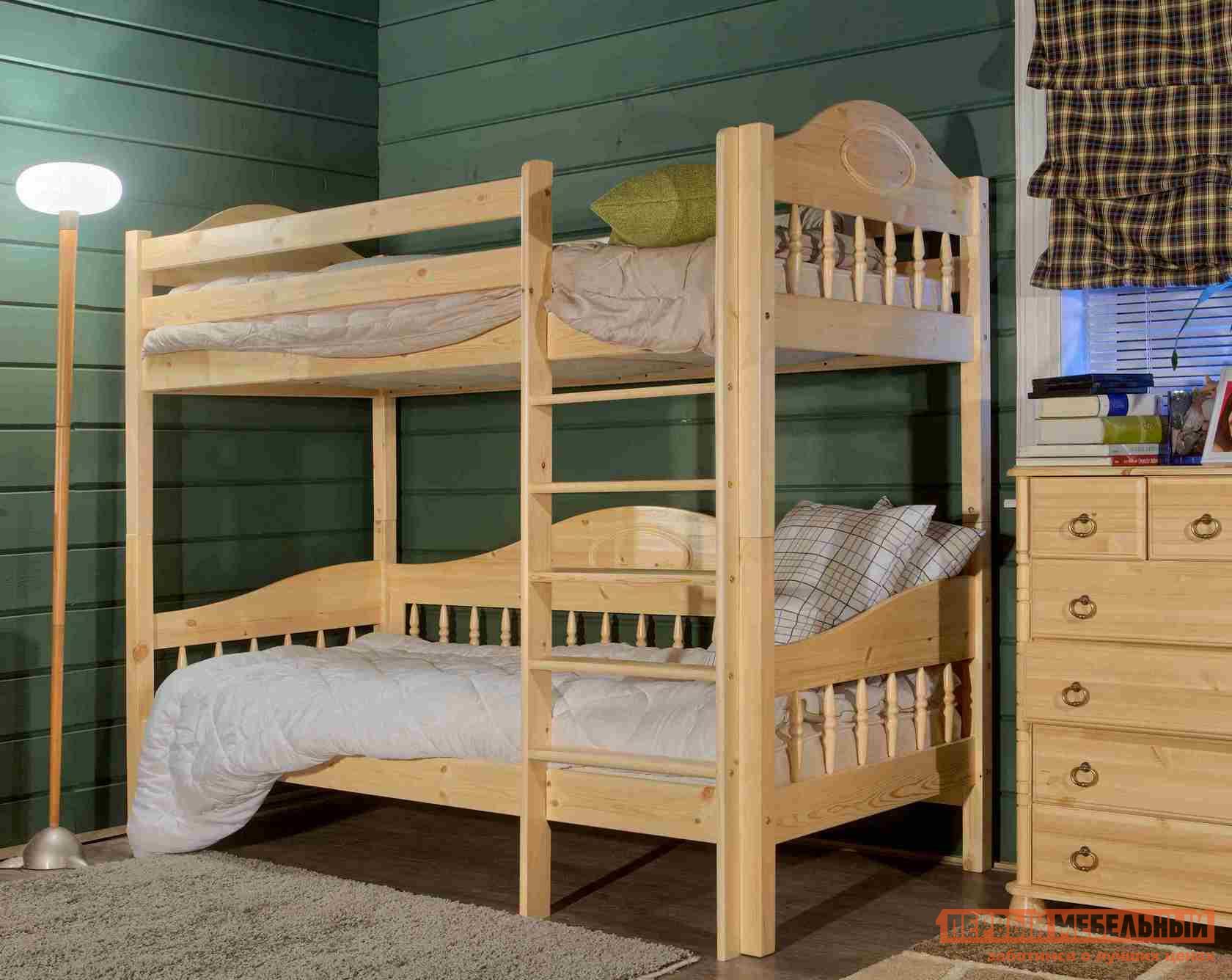 Двухъярусная кровать Timberica Кровать 2-ярусная Фрея (F3) интерьерная кровать фрея