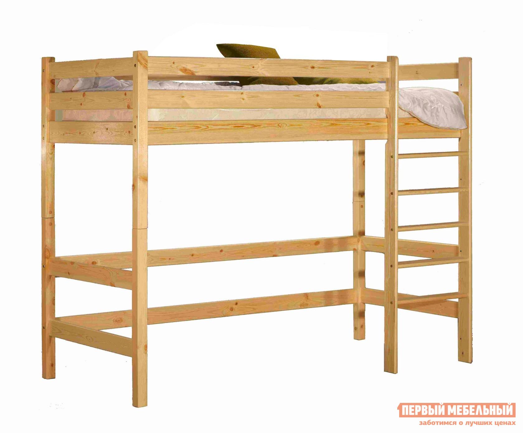 Кровать-чердак Кровать верхнеярусная Классик Спальное место 800 Х 2000 мм, Бесцветный лак фото