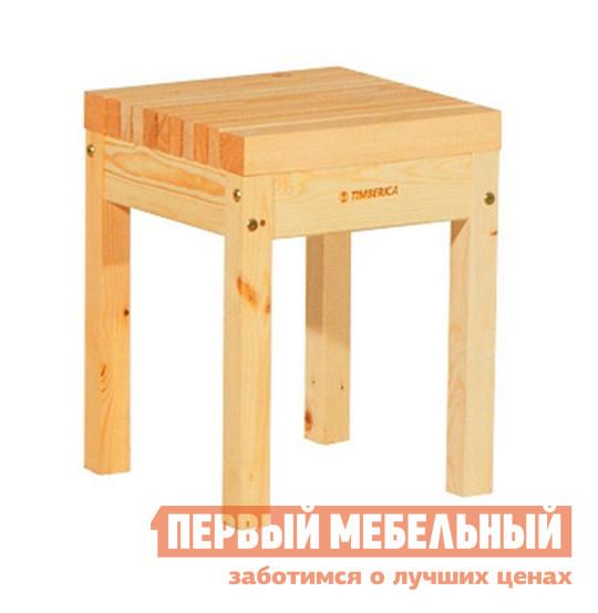Садовое кресло Timberica Табурет Лахти НатураСадовые стулья и кресла<br>Габаритные размеры ВхШхГ 450x350x350 мм. Деревянный табурет прекрасно подойдет для садового или дачного интерьера, но так же может найти своё место и в городской квартире.  Данный табурет прослужит долго, он изготовлен из массива сосны, что так же говорит о его экологичности. Табурет рассчитан на нагрузку до 100 кг. Табурет имеет интересный дизайн, он выполнен из ряда поперечных реек, с небольшим расстоянием между ними.<br><br>Цвет: Светлое дерево<br>Высота мм: 450<br>Ширина мм: 350<br>Глубина мм: 350<br>Форма поставки: В разобранном виде<br>Срок гарантии: 1 год<br>Тип: До 80 кг<br>Тип: До 100 кг<br>Тип: Без спинки<br>Назначение: Для дачи<br>Назначение: Для кухни<br>Материал: Массив дерева<br>Порода дерева: Сосна<br>Форма: Квадратные<br>Высота: Высота 45 см<br>С жестким сиденьем: Да<br>Без подлокотников: Да<br>С деревянными ножками: Да<br>Стиль: Классический<br>Стиль: Современный