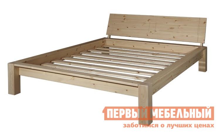 Односпальная кровать  Брамминг-2 Бесцветный лак, Спальное место 1200 Х 2000 мм