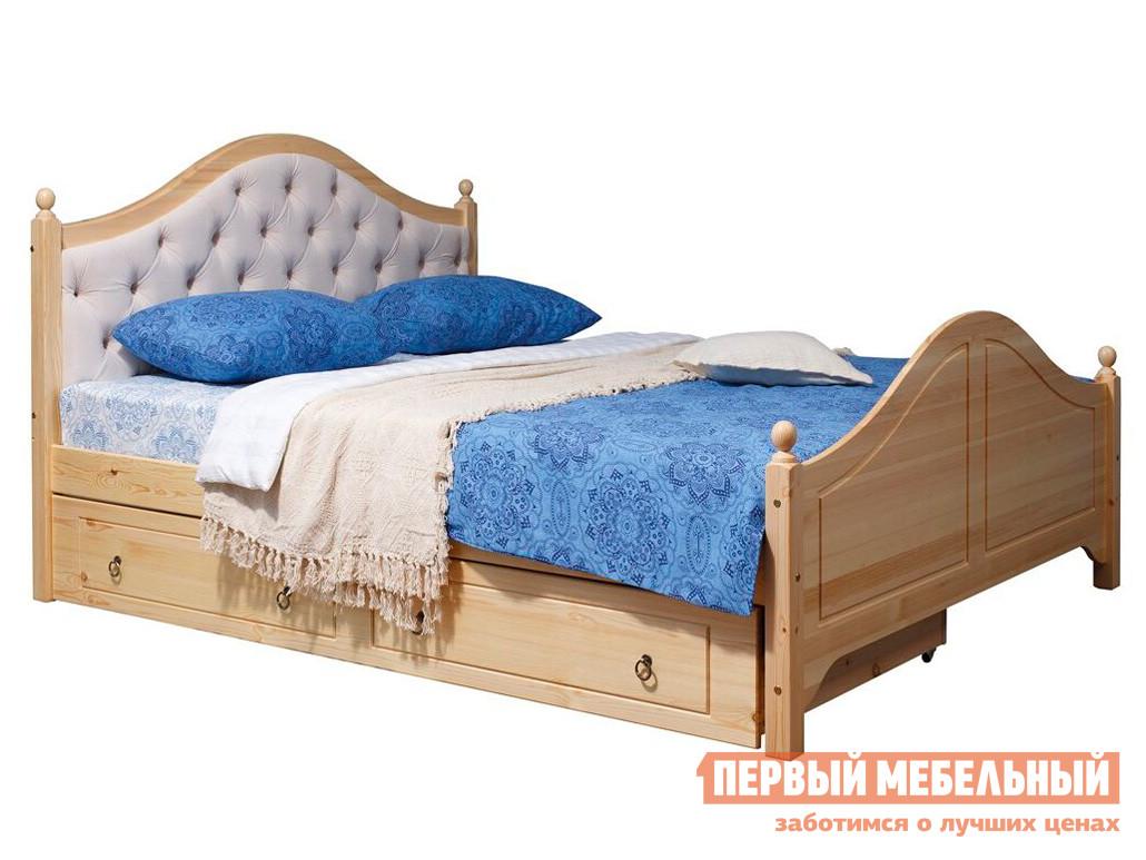 Односпальная кровать Timberica Кая (К2) мягкая с ящиками комплект мебели для спальни timberica кая к2