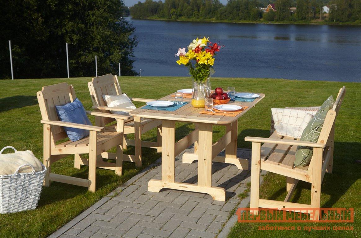 Комплект садовой мебели Timberica Скамья Ярви + 2 кресла Ярви + стол Ярви