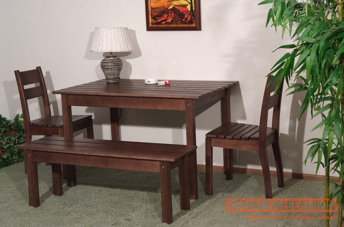 Комплект садовой мебели Timberica Скамья дачная №1 + 2 стула дачного + стол дачный №2 комплект детской мебели timberica классик эмаль белая к1
