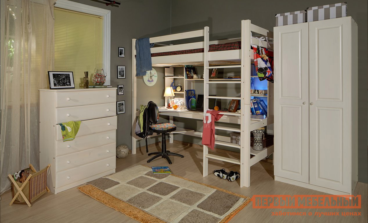 Комплект детской мебели Timberica Классик Эмаль белая К1 комплект детской мебели мебельсон амели м к1