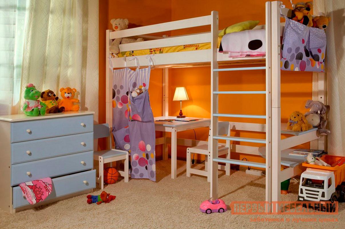 Кровать-чердак подростковая Timberica Кровать верхнеярусная Классик кровать полуторка timberica эрика