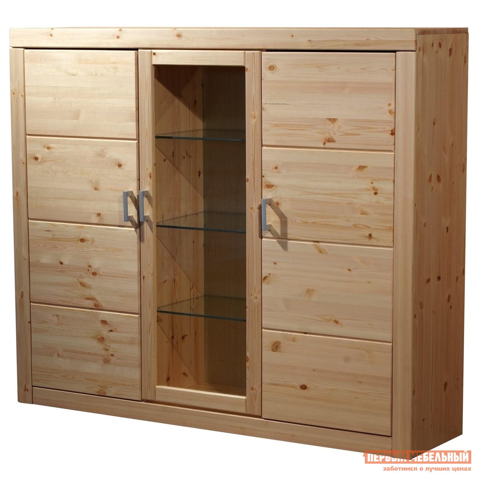 Шкаф-витрина Timberica Буфет 3-створчатый Брамминг шкаф витрина timberica шкаф книжный айно 2