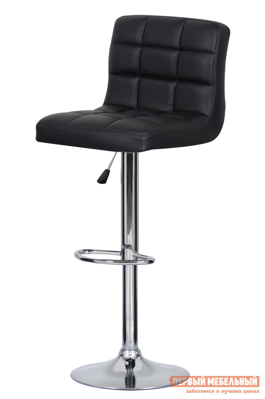 Барный стул Паоли Kruger Original T-808H Black кожзамБарные стулья<br>Габаритные размеры ВхШхГ 920 / 1120x430x430 мм. Эстетика, функциональность и простота — основные характеристики этой модели барного стула.  В производстве изделия использованы новейшие разработки и материалы. Мягкое сиденье и поворотно-подъемный механизм, которым снабжена модель, делает его максимально комфортным в обстановке домашнего бара. Материалы: хромированная сталь,  дерево, газ-лифт, обивка из высококачественной искусственной кожи PVC. Минимальный срок службы: 10 лет. Нагрузка на газ-лифт: до 100 кг.<br><br>Цвет: Black кожзам<br>Цвет: Черный<br>Высота мм: 920 / 1120<br>Ширина мм: 430<br>Глубина мм: 430<br>Кол-во упаковок: 1<br>Форма поставки: В разобранном виде<br>Срок гарантии: 12 месяцев<br>Тип: Для кухни, Регулируемые по высоте<br>Материал: Металлические, из искусственной кожи<br>Форма: Квадратные<br>Особенности: С мягким сиденьем, С одной ножкой, Со спинкой