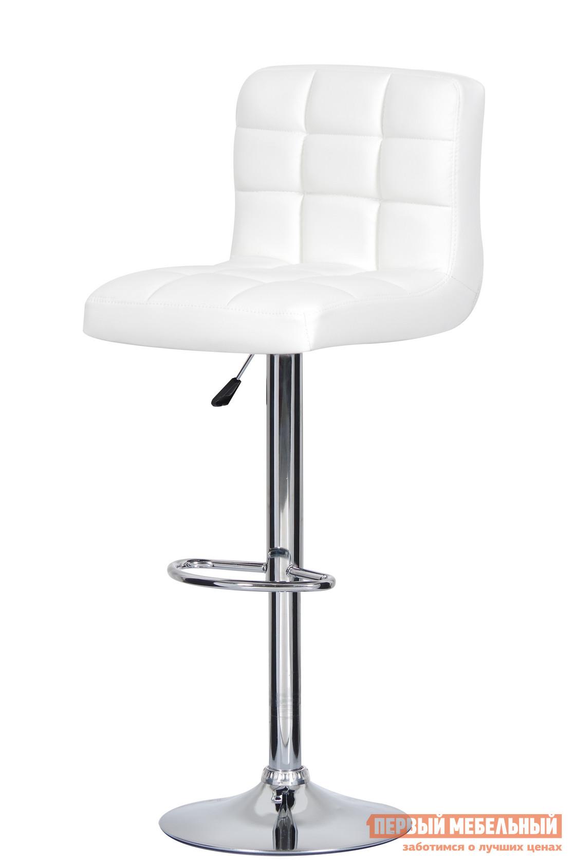 Барный стул Паоли Kruger Original T-808H White кожзамБарные стулья<br>Габаритные размеры ВхШхГ 920 / 1120x440x460 мм. Эстетика, функциональность и простота — основные характеристики этой модели барного стула.  В производстве изделия использованы новейшие разработки и материалы. Мягкое сиденье и поворотно-подъемный механизм, которым снабжена модель, делает его максимально комфортным в обстановке домашнего бара. Ширина сиденья — 44 см. Глубина сиденья с учетом спинки — 46 см. Высота спинки — 30 см. Высота сиденья от пола — 63-83 смДиаметр опорного диска — 38 см. Материалы: хромированная сталь,  дерево, газ-лифт, обивка из высококачественной искусственной кожи PVC. Минимальный срок службы: 10 лет. Нагрузка на газ-лифт: до 100 кг.<br><br>Цвет: Белый<br>Высота мм: 920 / 1120<br>Ширина мм: 440<br>Глубина мм: 460<br>Кол-во упаковок: 1<br>Форма поставки: В разобранном виде<br>Срок гарантии: 12 месяцев<br>Тип: Для кухни<br>Тип: Регулируемые по высоте<br>Материал: Металл<br>Материал: Искусственная кожа<br>Форма: Квадратные<br>С мягким сиденьем: Да<br>С одной ножкой: Да<br>Со спинкой: Да