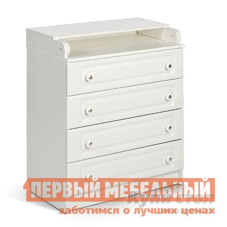 Комод детский Мебеком ДМ-101 (арка) Корпус белый / Фасад белый (арка)