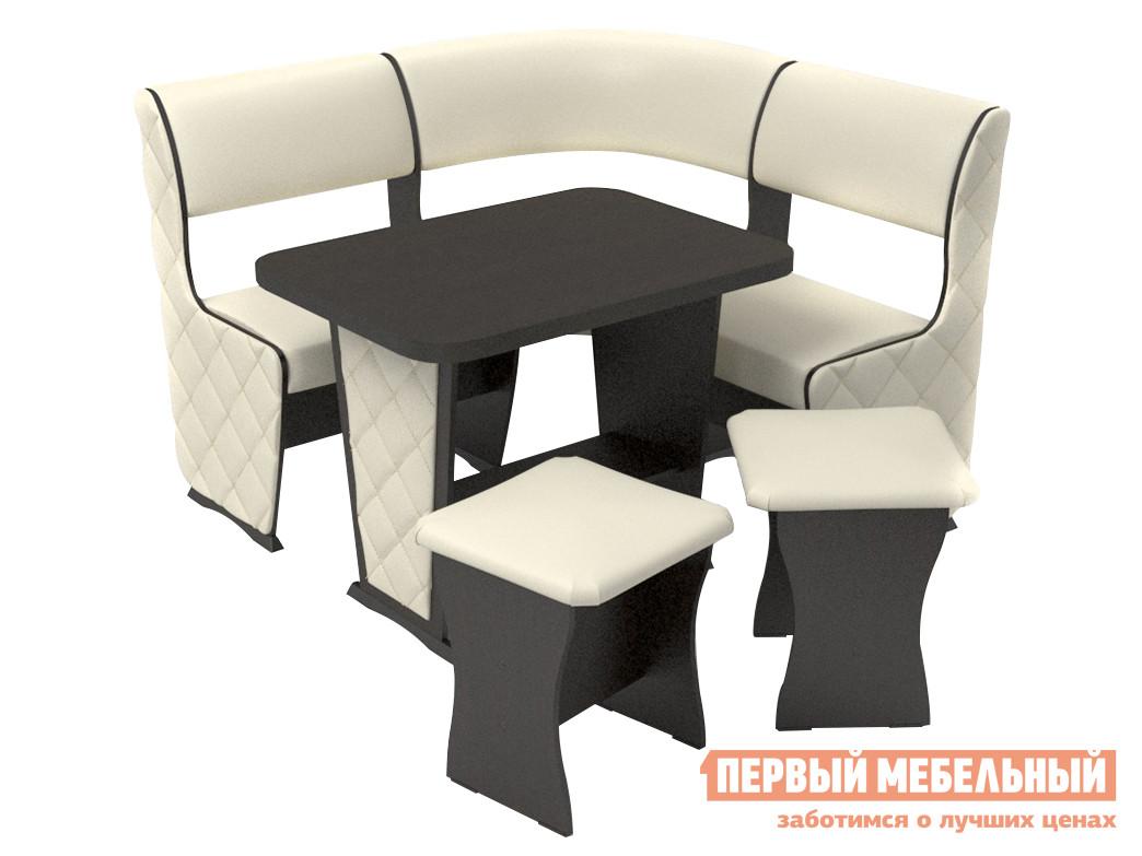 Мягкий кухонный уголок со столом и стульями ТАЛАНТ Консул МИНИ Лайт с накладками