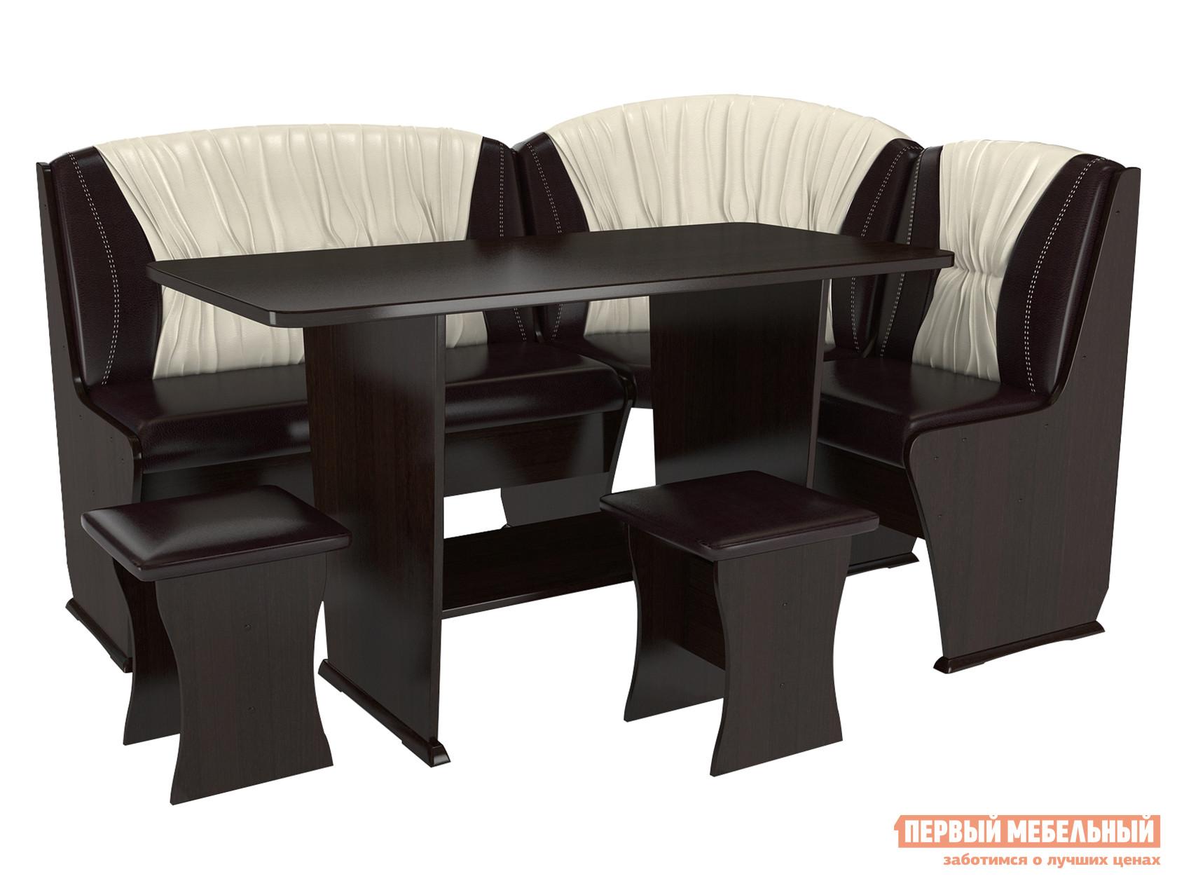 Мягкий кухонный уголок со столом и стульями ТАЛАНТ Консул-4