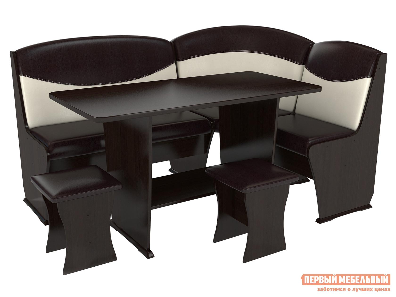Мягкий кухонный уголок со столом и стульями ТАЛАНТ Консул-2