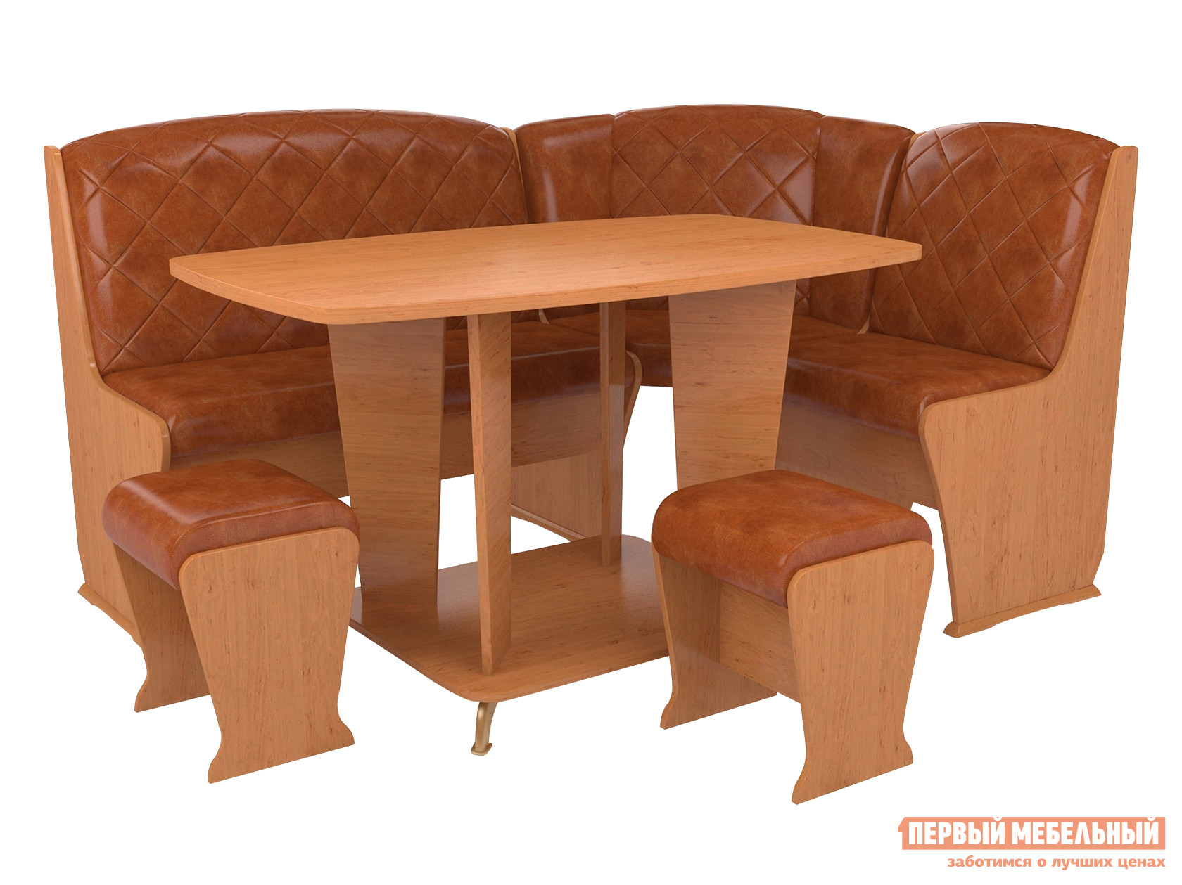 Мягкий кухонный уголок со столом и стульями ТАЛАНТ Консул-5