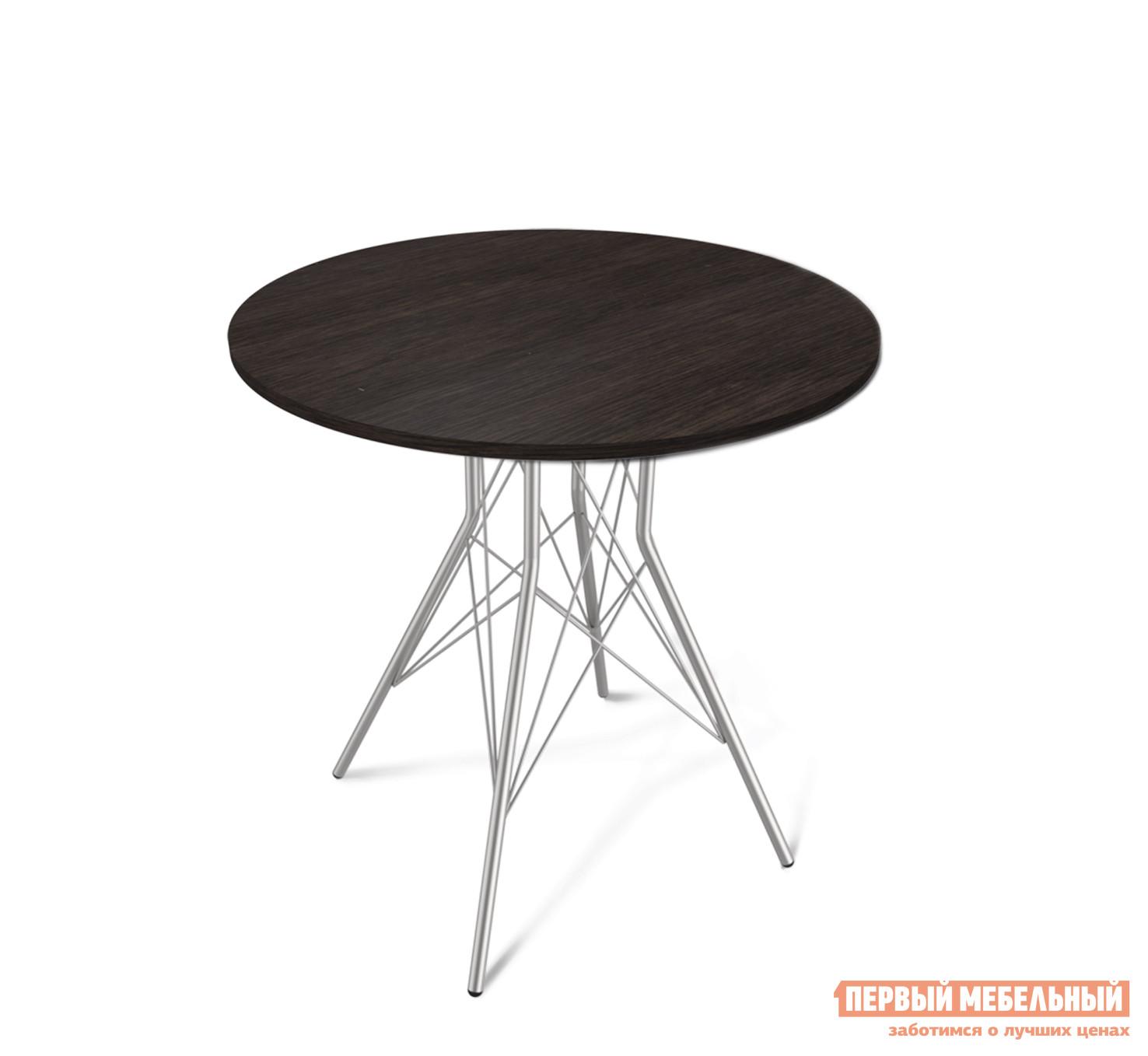 Кухонный стол  SHT-ТU2 + SHT-TT 80 ЛДСП Венге / Хром лак