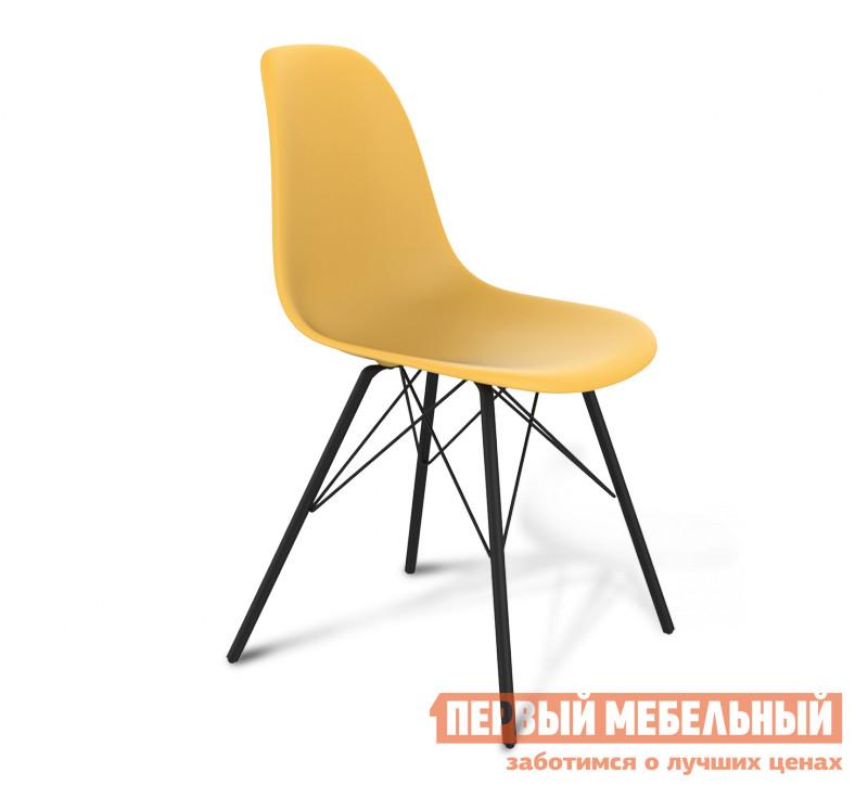 Стул Sheffilton SHT-S37 (СТ-37) Желтый / Черный муар