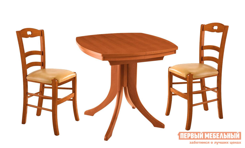 Обеденная группа для кухни Лидер МАРСЕЛЬ 85/85 + 2 ТУРИН высокий обеденный стол трансформер лидер марсель 85 85 орех
