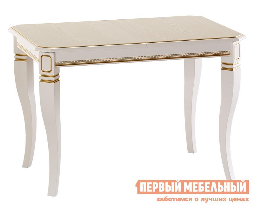 Обеденный стол с патиной Лидер «Кадис 110/75-Ш» обеденный стол с матовым стеклом лидер рим 90 75 с венге стекло светлое с квадратами