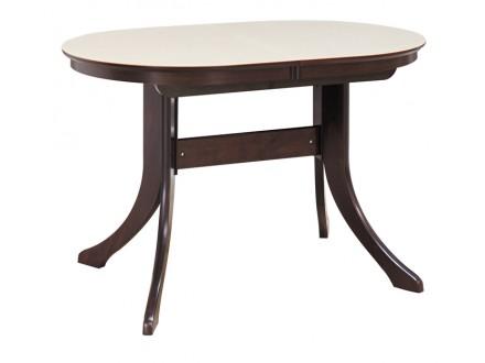 Обеденный стол МАРСЕЛЬ 120/80-КМ (овальный с иск.камнем) Марсель 120-К