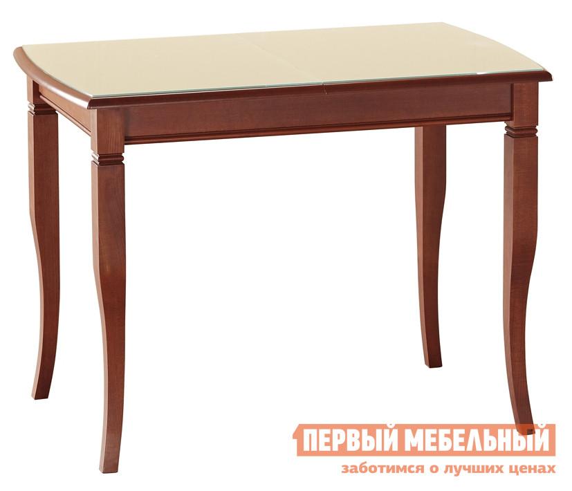 Глянцевый обеденный стол со стеклянной столешницей Лидер «Бруно 100/65-С»