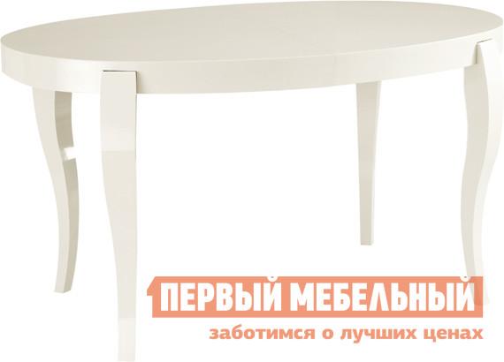 Обеденный стол Лидер «ЭЛИС 140/90-ОВШ» Белый глянец