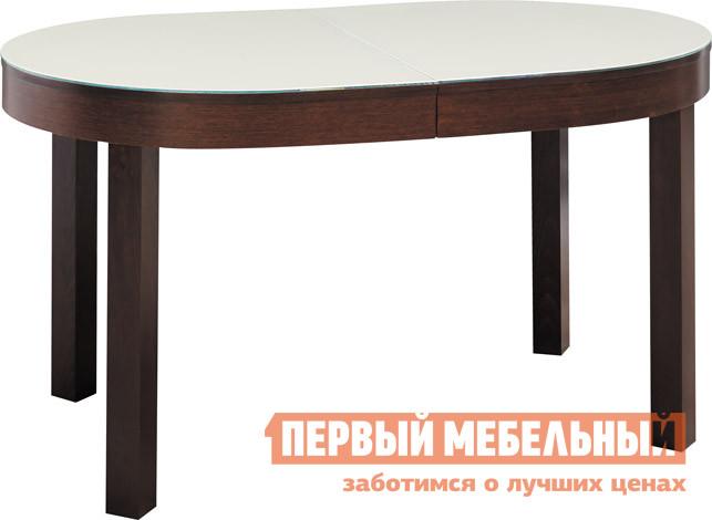 Обеденный стол Лидер «СИТИ 140/90-ОВС» Венге / Стекло кремовое