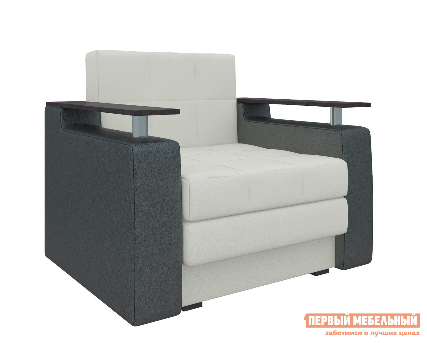 Кресло Мебелико Кресло-кровать Комфорт Экокожа бело-черный от Купистол