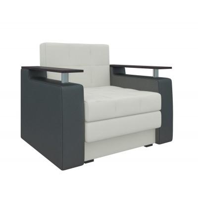 Кресло Мебелико Кресло-кровать Комфорт Экокожа бело-черный