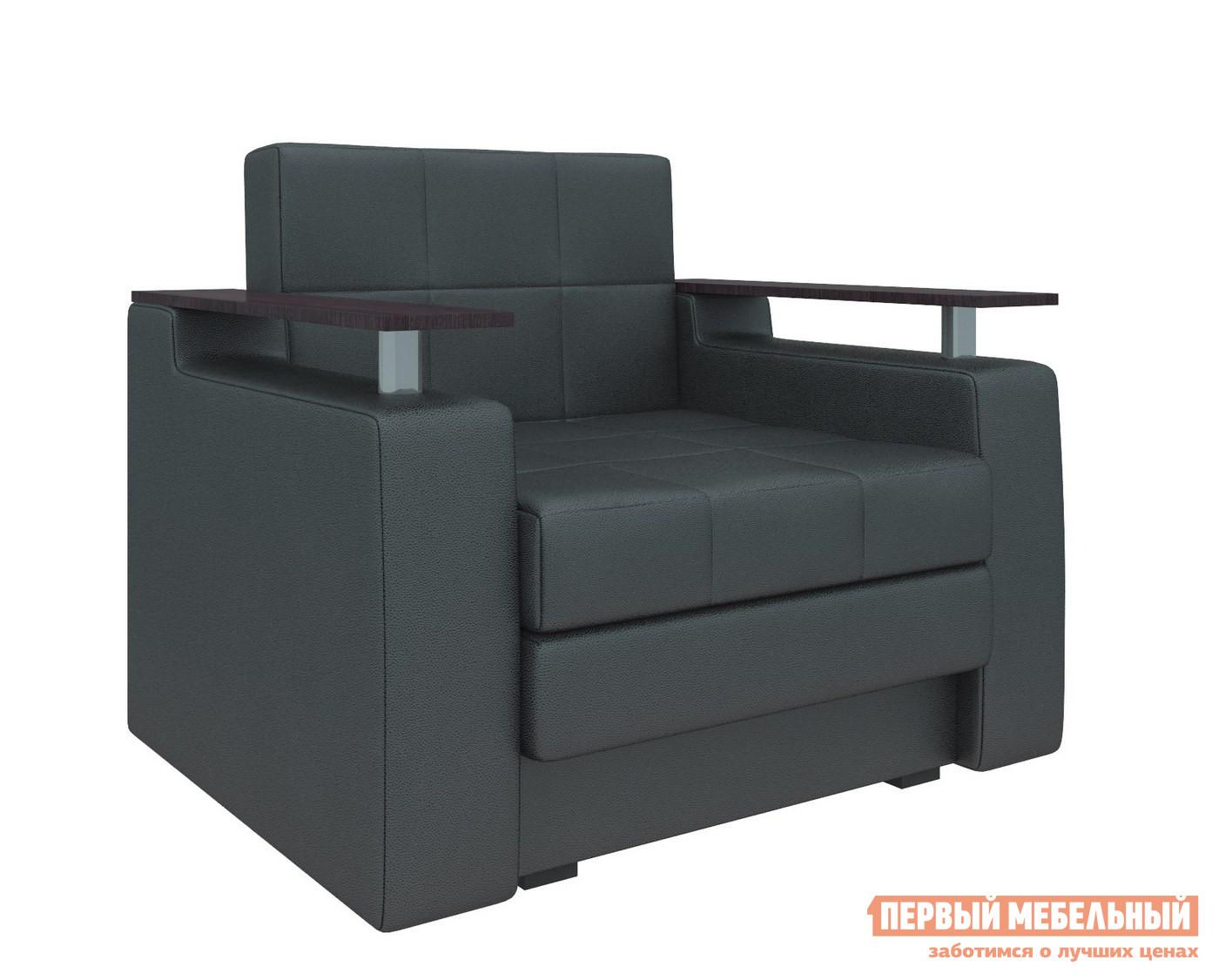 Кресло Мебелико Кресло-кровать Комфорт Экокожа черная