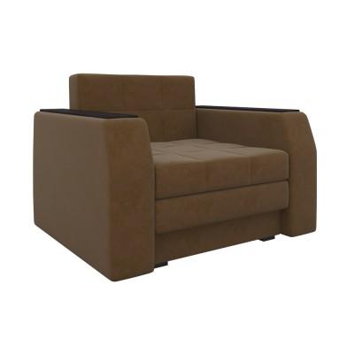 Кресло Мебелико Кресло-кровать Эмир Коричневый микровельвет