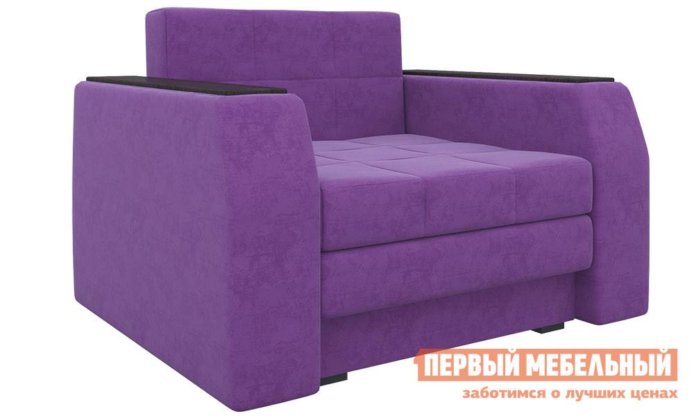 Фото Кресло Мебелико Кресло-кровать Эмир Фиолетовый микровельвет. Купить с доставкой