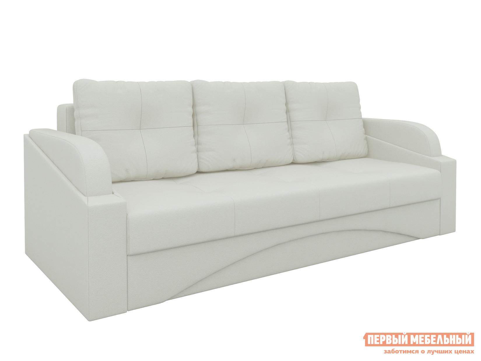 Купить со скидкой Прямой диван Мебелико Панда Экокожа белая