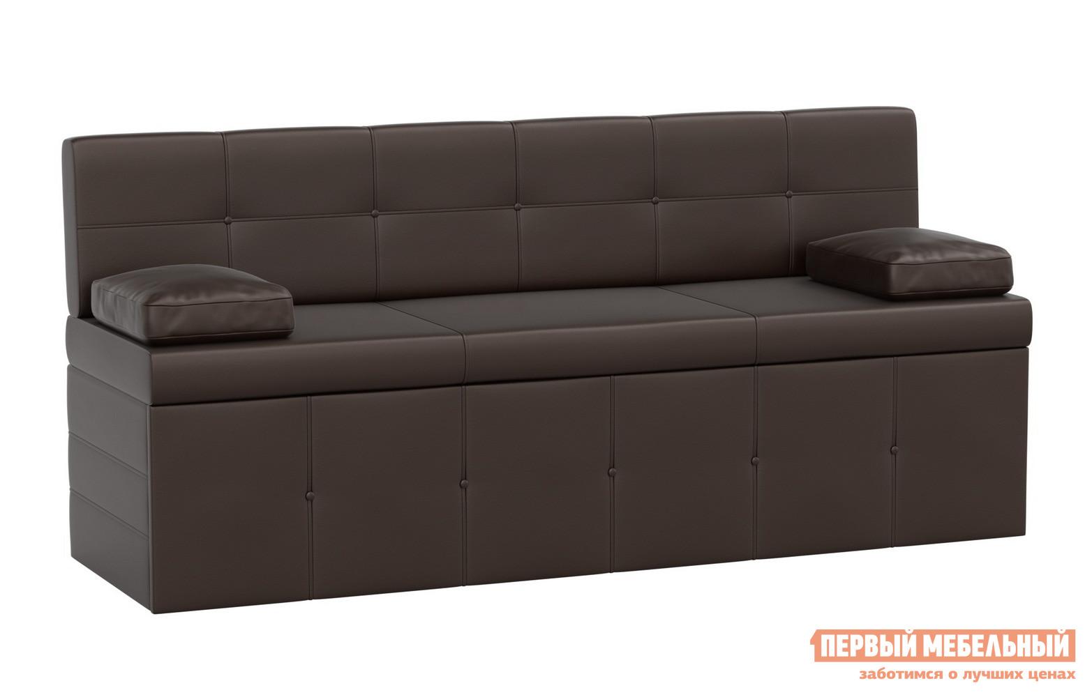 Прямой узкий кухонный диван со спальным местом Мебелико Кухонный диван Лео