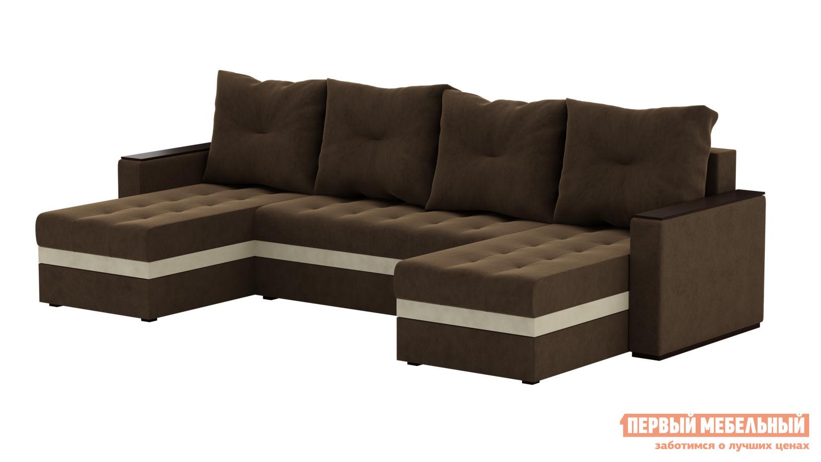 Угловой диван-кровать из кожи Мебелико Атланта П БС диван п образный угловой aria