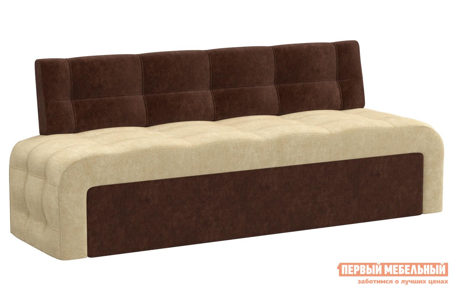 Прямой кухонный раскладной диван для маленькой кухни Мебелико Кухонный диван Люксор микровельвет