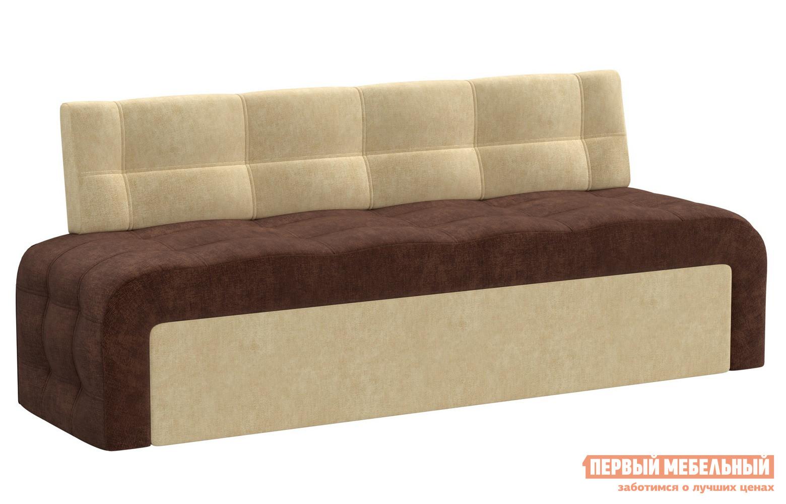 Кухонный диван  Кухонный диван Люксор микровельвет Коричнево-бежевый микровельвет